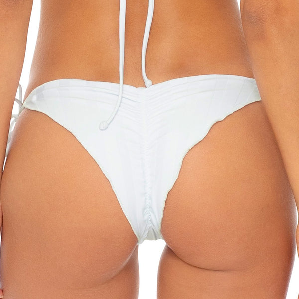 BACHELORETTE AND HER BABES - Wavey Ruched Back Brazilian Tie Side Bottom