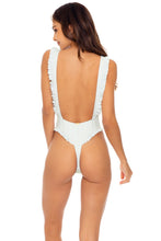 BACHELORETTE AND HER BABES - Tank Open Sides Thong One Piece Bodysuit • Bride White