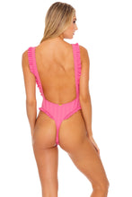 BACHELORETTE AND HER BABES - Tank Open Sides Thong One Piece Bodysuit • Party Pink
