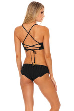 BACHELORETTE AND HER BABES - Underwire Top & Ruffle Full Seamless Bottom • Bash Black