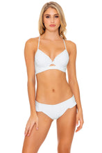 BACHELORETTE AND HER BABES - Underwire Top & Ruffle Full Seamless Bottom • Bride White