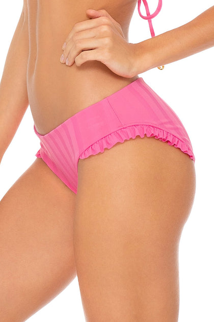 BACHELORETTE AND HER BABES - Underwire Top & Ruffle Full Seamless Bottom • Party Pink