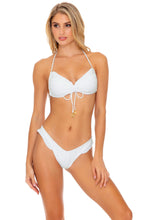BACHELORETTE AND HER BABES - Bandeau Top & High Leg  Bottom • Bride White