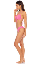 BACHELORETTE AND HER BABES - Bandeau Top & High Leg  Bottom • Party Pink
