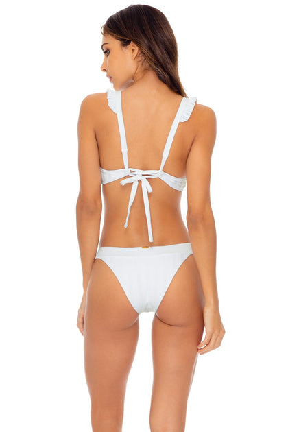 BACHELORETTE AND HER BABES - Halter Top & Band Moderate Bottom • Bride White
