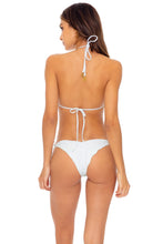 BACHELORETTE AND HER BABES - Triangle Top & Wavey Ruched Back Tie Side Bottom • Bride White