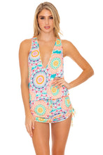 CARIBBEAN KISSES - T Back Mini Dress • Multicolor