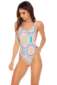 CARIBBEAN KISSES - Tank Open Sides One Piece Bodysuit • Multicolor