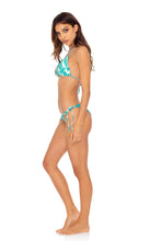 MERMAID WISHES - Wavey Triangle Top & Wavey Ruched Back Tie Side Bottom • Multicolor