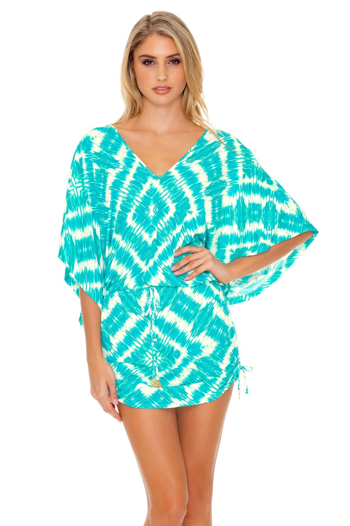 ab17030edd6d MERMAID WISHES - Cabana V Neck Dress • Multicolor – Luli Fama