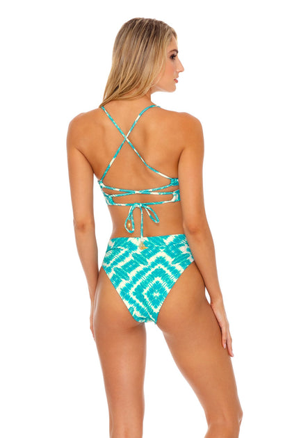 MERMAID WISHES - Underwire Top & High Leg Banded Waist Bottom • Multicolor