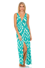MERMAID WISHES - V Neck Long Dress • Multicolor