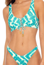 MERMAID WISHES - Lace Up Bralette & High Leg  Bottom • Multicolor