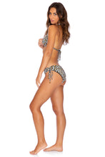 WILD SIDE - Triangle Halter Top & Drawstring Side Full Bottom • Multicolor