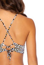 WILD SIDE - Cross Back Bustier Top & Seamless Wavey Ruched Back Bottom • Multicolor