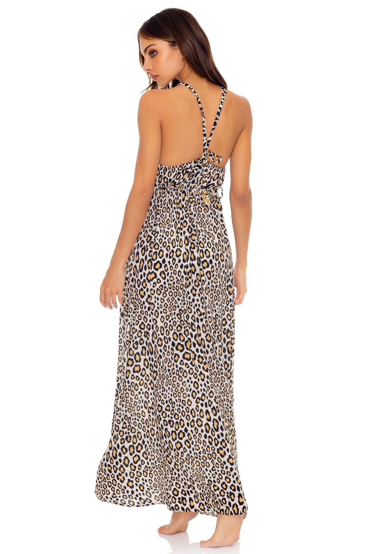 WILD SIDE - V Neck Long Dress • Multicolor