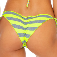 TIME TO FIESTA - Wavey Ruched Back Brazilian Tie Side Bottom
