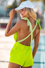 GLOW BABY GLOW - Adjustable Shorts Romper • Lime