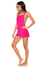 GLOW BABY GLOW - Adjustable Shorts Romper • Pink