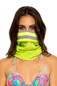 GLOW BABY GLOW - Confort Wrap Mask • Neon Yellow