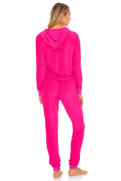 GLOW BABY GLOW - Hoodie Cut Out Jacket & Jogger Pants • Pink