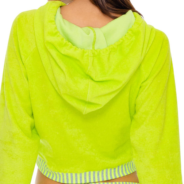 GLOW BABY GLOW - Hoodie Cut Out Cropped Jacket