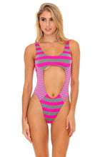 TIME TO FIESTA - Tank Open One Piece • Neon Pink