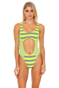 TIME TO FIESTA - Tank Open One Piece • Neon Yellow
