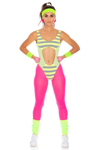 HALLOWEEN TIME TO FIESTA - Tank Open One Piece • Neon Yellow