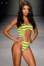 TIME TO FIESTA - Tank Open One Piece • Neon Yellow Runway