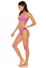 TIME TO FIESTA - Tank Bralette & High Leg Banded Waist Bottom • Neon Pink