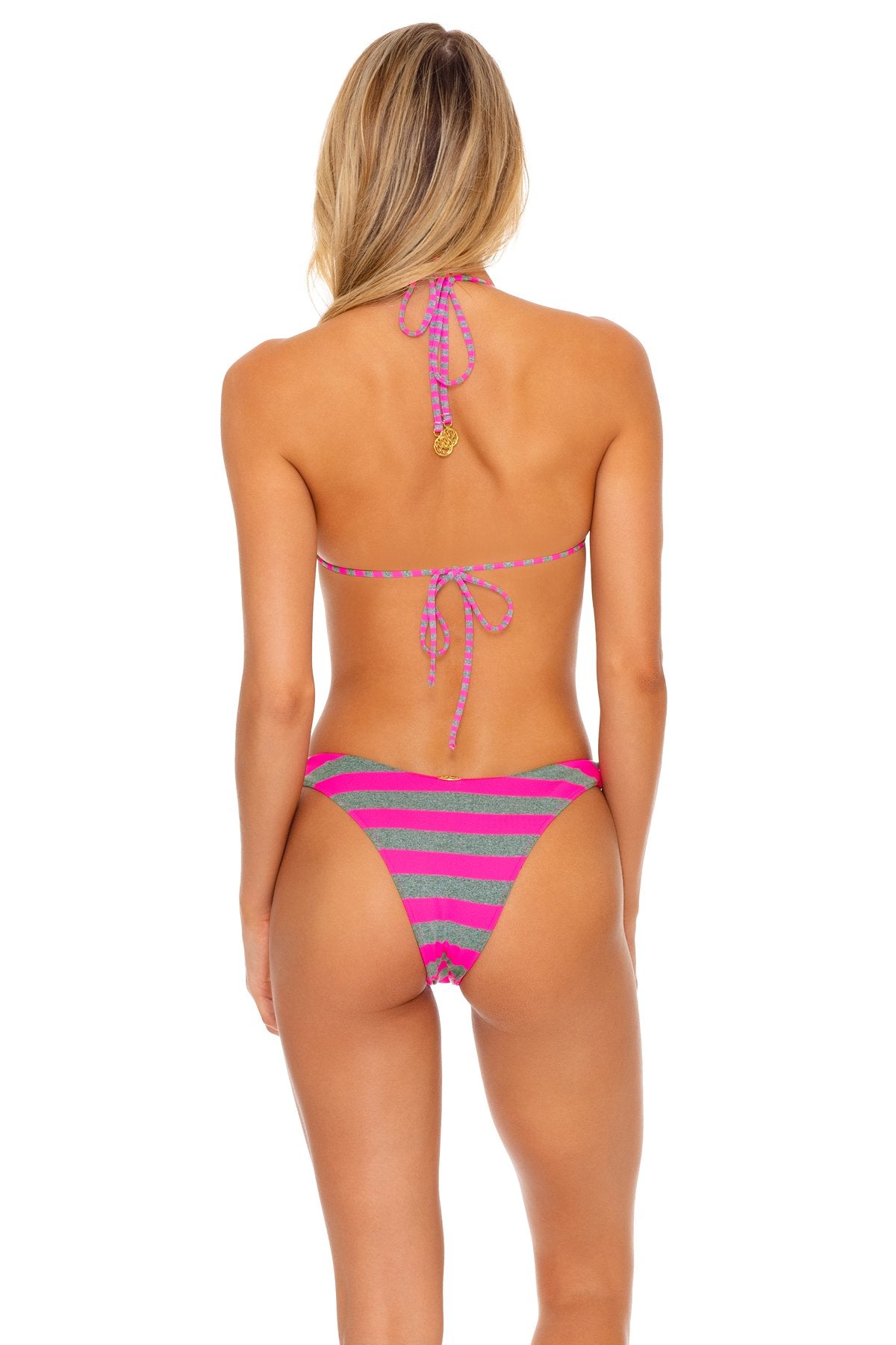 TIME TO FIESTA - Bandeau Top & High Leg Bottom • Neon Pink
