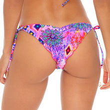 PINK LAGOON - Wavey Ruched Back Brazilian Tie Side Bottom