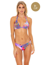 PINK LAGOON - Triangle Halter Top & Seamless Full Ruched Back Bottom • Multicolor