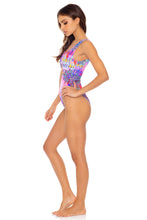 PINK LAGOON - Tank Open One Piece • Multicolor