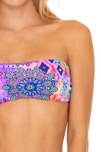PINK LAGOON - Free Form Bandeau & High Leg Banded Waist Bottom • Multicolor