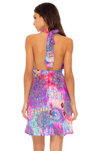 PINK LAGOON - Deep Plunge Mini Dress • Multicolor