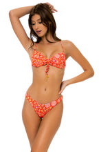 CALYPSO - Bandeau Top & High Leg Bottom • Rojo