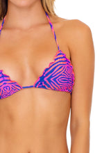 PUERTO AVENTURA - Wavey Triangle Top & Wavey Ruched Back Tie Side Bottom • Multicolor