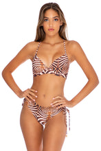 SAFARI DREAMS - Underwire Top & Drawstring Side Full Bottom • Brown