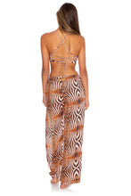 SAFARI DREAMS - Underwire Top & Split Side Wide Leg Pant • Brown