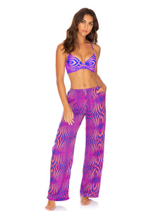PUERTO AVENTURA - Underwire Top & Split Side Wide Leg Pant • Multicolor