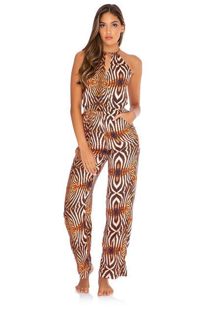 SAFARI DREAMS - Señorita Jumpsuit • Brown
