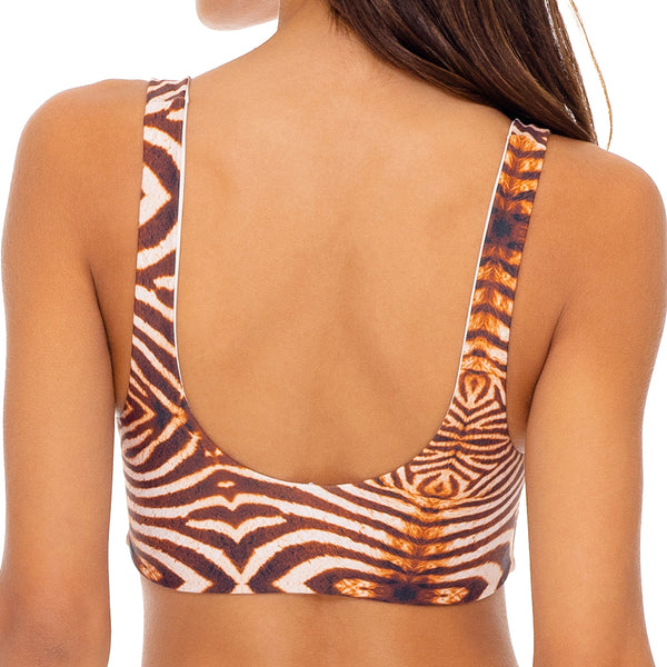 SAFARI DREAMS - Tie Front Tank Top