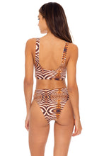 SAFARI DREAMS - Tie Front Tank Top & High Leg Tie Front Bottom • Brown
