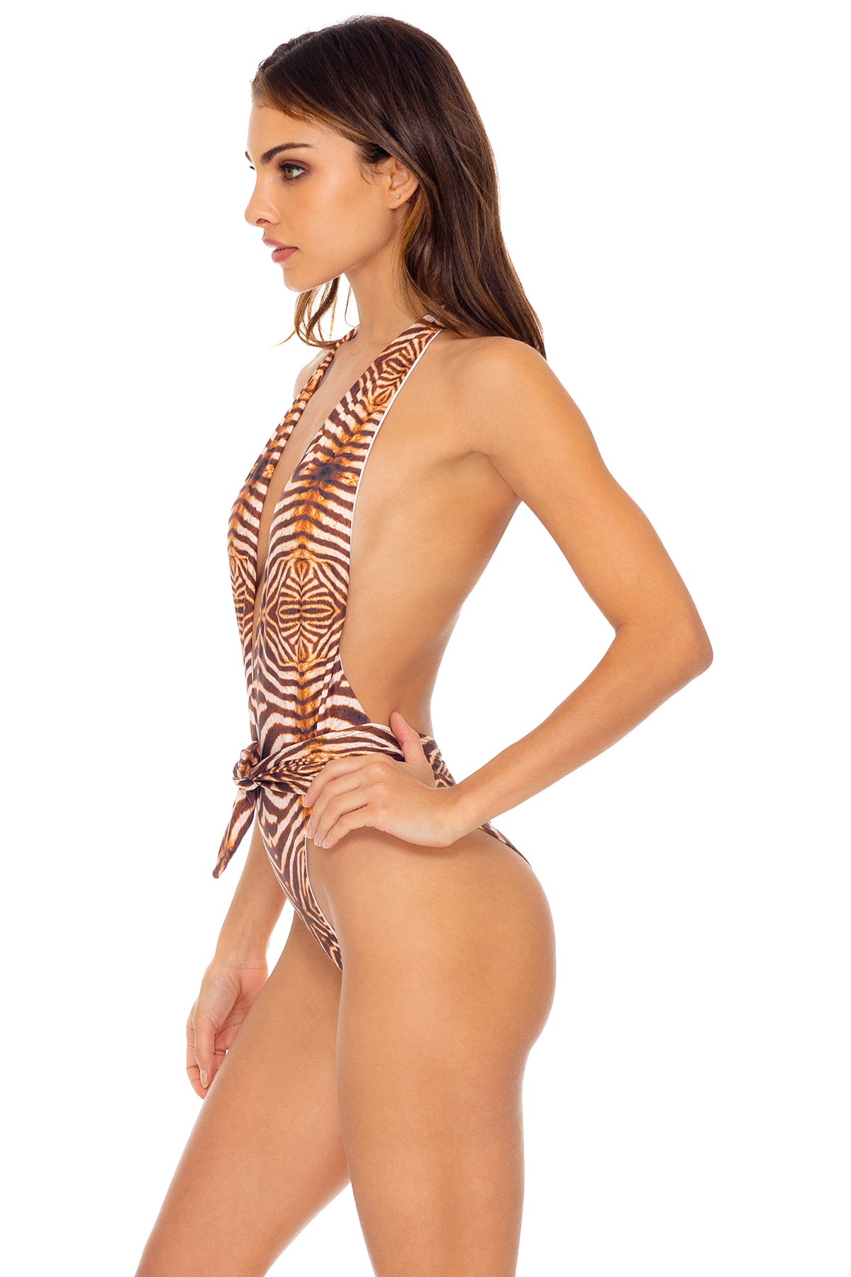 SAFARI DREAMS - One Piece Bodysuit • Brown
