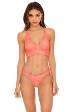 PUERTO AVENTURA - Cross Back Bustier Top & High Leg Bottom • Multicolor