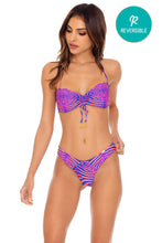 PUERTO AVENTURA - Bandeau Top & Tab Side High Leg Thong Bottom • Multicolor