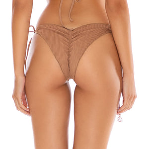 RIVER DANCE - Wavey Ruched Back Tie Side Bottom