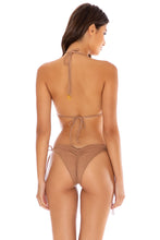 RIVER DANCE - Triangle Top & Wavey Ruched Back Tie Side Bottom • Coconut